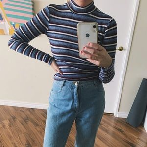 Forever 21 Sweaters - striped 90s turtleneck